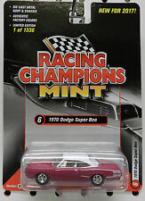 1970 DODGE SCAT PACK BOYS PINK SUPER BEE CORONET WHITE 1256 RACING CHAMPIONS