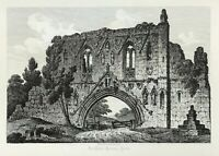 Kirkham Priory North Yorkshire by John Coney large etched print view