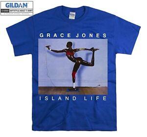 Grace Jones Island Life Model T-shirt T shirt Men Women Unisex Tshirt 2666