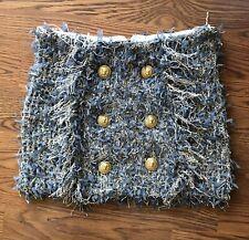 BALMAIN Knit Bouclé Mini Skirt FR 34