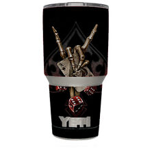 Skin Decal for Yeti 30 oz Tumbler Cup (6-piece kit) / Ace of Spades Skull Hand