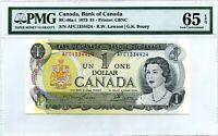 CANADA $1 DOLLAR 1973 BANK OF CANADA  BC 46 a - i LUCKY MONEY VALUE $128