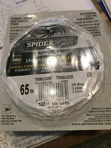 3 Packs Of Spiderwire  Ultracast Ivvisibrade 65 Lb Test 125yards Ea