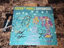 Foster The People Rare Band Signed Limited Vinyl LP Record Supermodel + Photo !!