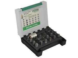 Stahlwille 21 Piece Bit Box PH, PZ, TX & Hex STW96080121