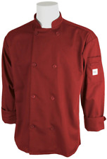 Mercer Culinary Millennia Unisex Cook Jacket Sz XX-Large, Red