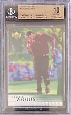 Tiger Woods 2001 Upper Deck #1 Rookie BGS 10 Only 0.5 Away From Black Label!