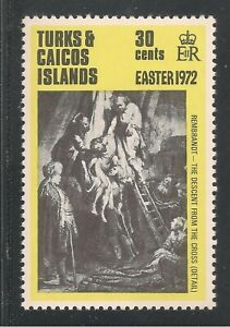 Turks & Caicos Islands #252 VF MNH - 1972 30c Decent from the Cross by Rembrandt