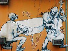 ART PRINT POSTER PHOTO GRAFFITI MURAL STREET ART DOUBLE BASS NOFL0190