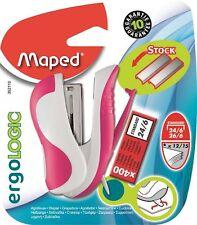 Helix Maped Mini Compact Stapler Ergologic 26/6 Spare Staples Pocket Stationery