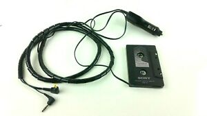 Genuine Sony CPA-11 Car Audio Cassette Tape Adapter and OEM Power Cord DCC-E455A