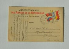 CARTE POSTALE FRANCHISE MILITAIRE 19 CHASSEURS A CHEVAL FR 14-18 N°58