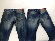 Prps Mens Mid Slim Demon Distressed Selvage Blue Jeans Size 32 Inseam 28 2 Pair