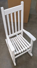 Children's White Wood Rocking garden Chair