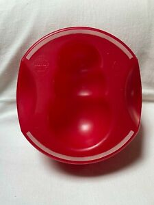 Kong Brand Large Slow Feed Dog Food Bowl Big Pet Bowl Red Color Used Condition