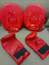 2 BOXING GLOVES AND TWO FOCUS PADS FOR STRENGTH TRAINING,MARTIAL ARTS FITNESS
