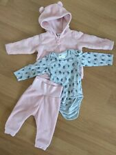 H&M Baby Girls Fleece Tracksuit And Long Sleeve Bodysuit 4-6 Months Bundle