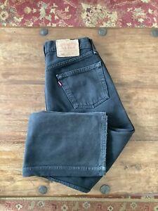 Original Vintage Levis 501 Washed Out Black Jeans W30 L30