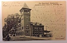 SOUTHBRIDGE, MA 1905 Fire Department Headquarters POSTCARD Mr. Ray B. Wells