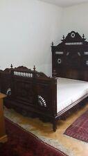 Bett, Doppelbett, Nachtschrank, Nachtkonsole, bretonisch, antik, original