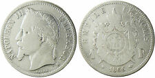 NAPOLEONE III , 1 FRANCO ARGENTO TESTA LAUREATA 1866 BB STRASBURGO