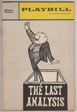 "Saul Bellow Playbill ""The Last Analysis"" 1964 FLOP Sam Levene, Leon Janney"