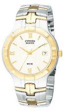 Citizen Quartz Two-Tone White Dial Men's Watch - BK2324-51A   Free Shipping!