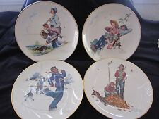 Norman Rockwell set of 4 plates from the Four Seasons Series for 1948
