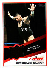WWE Brodus Clay Event Used Pants Relic Card 2013 Topps Triple Threat DWC3