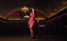 GOK WAN RED LACE SHIFT STATEMENT DRESS SZ 10 BNWT WITH BUILT IN CONTROL SLIP