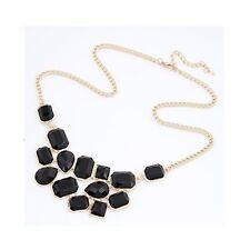 Gold Black Geometric Elegant Teardrop Decorative Costume Jewellery Necklace