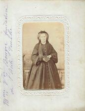 Photo cdv : Madame Veuve Anne-Marie Bouyer , Fondatrice de l'Asile Emilie