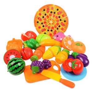 Kinder Küche Obst Gemüse Lebensmittel Rollenspiel Schneiden Spielzeug Geschenk