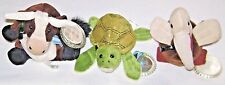 3 Coca Cola Bean Bag Toys 1998 International Collection Cow Sea Turtle Pelican