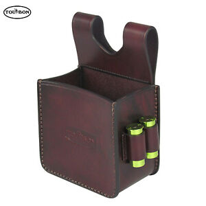 Tourbon Leather Gun Cartridge Belt Holder Waistband Storage Pouch for 12GA Shell