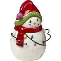 "Precious Moments ""Be Jolly"" Snowman Cookie Jar  NIB 191425"