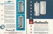 1950 COMBUSTION ENGINEERING Heatmaster Water Heaters ASBESTOS HISTORY Catalog