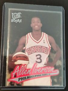 1996-97 Fleer Ultra #82 ALLEN IVERSON - PHILADELPHIA 76ERS - RC ROOKIE CARD