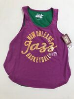 Touch by Alyssa Milano New Orleans Jazz NBA Basketball Sleeveless Shirt NEW M