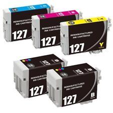 Super 127 Black/Color Inks for Epson WF545 645 WF3520 7010 WF7510 Printer