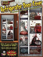 Refrigerator Door Cover Halloween Party Prop Decoration Blood Hand Foot Head Rat