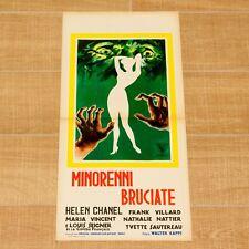 MINORENNI BRUCIATE locandina poster affiche Chanel Détournement de mineurs AQ100