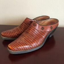 Ariat Womens Leather Western Slip On Boots Size 8 Brown