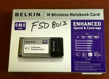 Belkin Wireless N Notebook Adapter Model# P58559 MPN# F5D8013 **FREE US SHIPPING