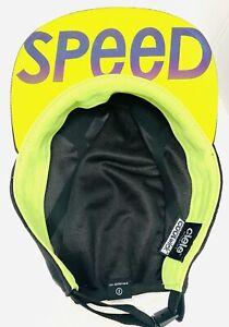 Ciele Athletics COOLwick Foldable Running Cycling Cap Hat Black Neon Yellow EUC