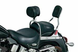 Kuryakyn Chrome Driver Backrest Pad Support Quick Detach Harley Softail 8987