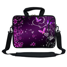 "11.6"" 12.3"" Neoprene Laptop Bag Case w. Side Pocket Shoulder Strap Handle  2503"