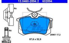 ATE Juego de pastillas freno Trasero para SEAT RENAULT LAGUNA 13.0460-2894.2