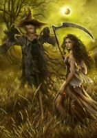 Field Of The Scarecrow - 1500 piece jigsaw puzzle by Cris Ortega