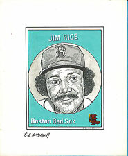 T.S. O'Connell Original Artwork - Baseball Greats - Jim Rice, Red Sox